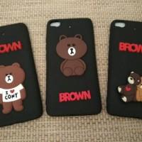 Xiaomi Mi 5s brown i love cony bear line silicon soft case