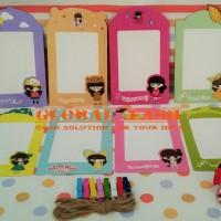 Frame foto kertas/ frame gantung/ paper frame photo/ CUTE GIRL/hanging