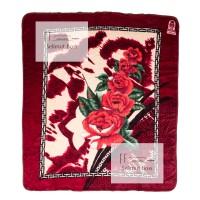 Selimut Bulu Halus Tebal Mawar Merah (Cardinal) 220 x 240 cm