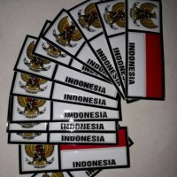 Sticker Plat Embos Bendera Indonesia l Stiker Mobil Motor