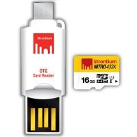 OTG Strontium 433X MicroSD 65MB/s Class 10 16GB + Card Reader A015