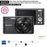 SONY Cyber-shot DSC-W830 BLACK (Resmi) ZEISS LENS Pocket Camera 20.1MP