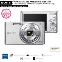 SONY Cyber-shot DSC-W830 SILVER (Resmi) ZEISS LENS PocketCamera 20.1MP