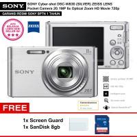 SONY Cyber-shot DSC-W830 SILVER (Resmi) + SanDisk 8gb + Screen Guard