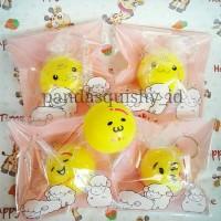Squishy Mini Yellow Bun Emoticon Gudetama Smile Onsen Bun