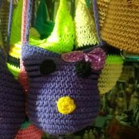 Tas Rajut Selempang Mini Bentuk Hello Kity - Tas Anak dan Remaja