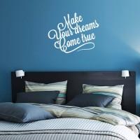 Stiker Quotes Make Your Dream Dinding Kaca Wall Sticker Kamar Rumah