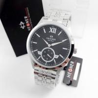 Jam Tangan Hegner 3565 BJ Silver Black Original