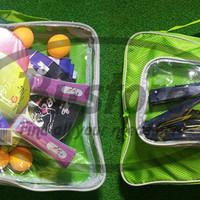 Tenis Meja Kit PINBO, Bat / Bola / Net Tenis meja 1 tas untuk 4 orang