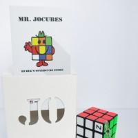 Rubik 3x3 Jocubes Keychain Black