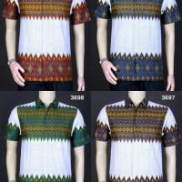 Batik Grosiran harga murah  Model Baju Kemeja Batik Modern Pria ||