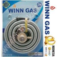 PAKET BRAND SELANG WINN GAS SELONGSONG BESI + REGULATOR METER