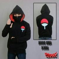 Jaket Sweater Hoodie Anime Finger Ninja Logo Uchiha