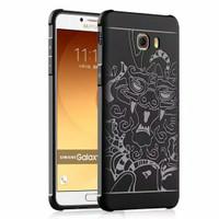 Cocose Case Samsung C9 Pro Softcase Case Dragon hitam