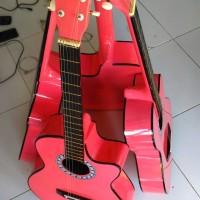 gitar akustik yamaha pemula gojek ready bonus softcase