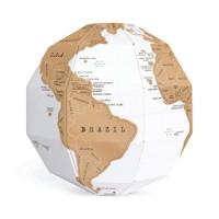 FUNN Art 3D Peta Dunia Gores XX-FN-FA16T0015 Scratch Globe World Map