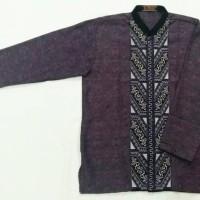 baju koko murah bordir ungu muslim pria laki laki