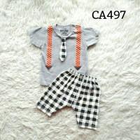 Setelan anak laki-laki  suspender (CA497)