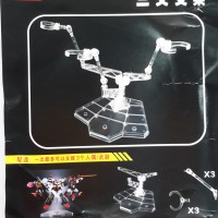 Stage Act Trident Tripod Clear Gundam Figure Action Stand Base HG RG