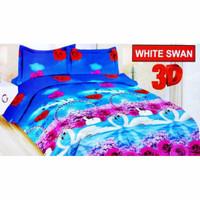 Sprei / Seprei Bonita 180x200 Motif White Swan