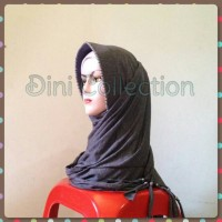 Pasmina instan kaos rumbai jilbab kerudung instan pet ped