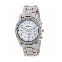 Jam Tangan Wanita Geneva Stainless Steel - Silver 632648