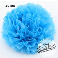 Pompom Kertas biru tua / Pompom Kertas 30 Cm / Tissue Paper / Pompom
