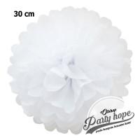 Pompom Kertas putih / Pompom Kertas 30 Cm / Tissue Paper / Pompom