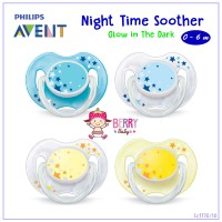 Empeng AVENT Night Time Soother 0-6m Isi 2