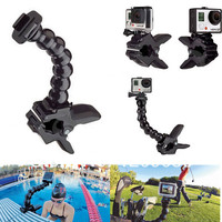 jaws flex clamp mount adjustable neck monopod for gopro - xiaomi yi -a