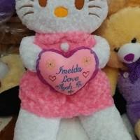 Boneka Hello Kitty rok jumbo + ukir nama