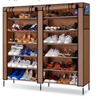 Double shoes Dusk Rack 7th Rak Sepatu SANDAL MULTIFUNGSI PORTABLE UNIK
