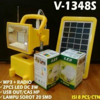 Emergency Lamp + MP3 + radio VDR V1348