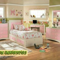 set kamar tidur anak perempuan tempat tidur anak minimalis moderen