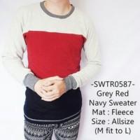 Sweater Pria / Sweater Rajut / Distro Grey Red