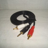 Kabel Audio Jack 3.5Mm Stereo Male To 2 Rca Stereo Male