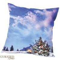 Curated Home SARUNG BANTAL NATAL - CHRISTMAS MOUNTAIN SNOW [45x45]