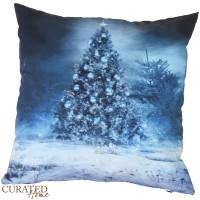 Curated Home SARUNG BANTAL NATAL - BLUE CHRISTMAS [45x45]
