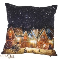Curated Home SARUNG BANTAL NATAL - CHRISTMAS HOUSE [45x45]