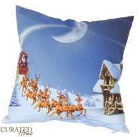 Curated Home SARUNG BANTAL NATAL - CHRISTMAS NIGHT SCENE [45x45]
