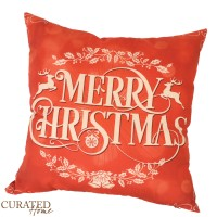 Curated Home SARUNG BANTAL NATAL - MERRY CHRISTMAS [45x45]