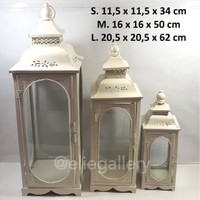 Lentera M / Lentera Besi / Tempat Lilin / Candle Holder (1 set 3 pcs)