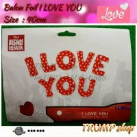 """BALON FOIL I LOVE YOU"""" SET"""