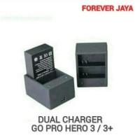Dual Charger Go Pro Hero 3/3+ Charger Baterai Kamera Berkualitas