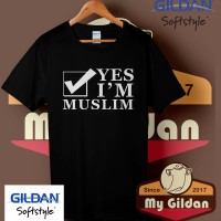 Kaos Gildan Yes i'm Muslim Quotes