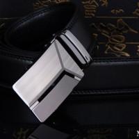 Ikat Pinggang Pria PU Leather Hitam MBELT 01