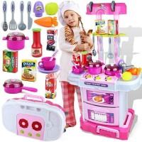 Kitchen Set Koper 3 In 1 Pink - Little Chef Mainan Masak-Masakan