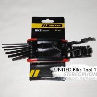 Bike ToolKit Kunci Sepeda Set Kunci Sepeda Tool Kit United 15 In 1