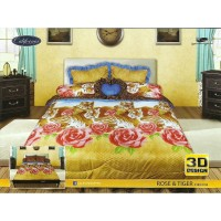 Sprei California King Motif Rose and Tiger