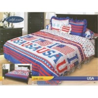 Sprei Rumbai King California motif USA